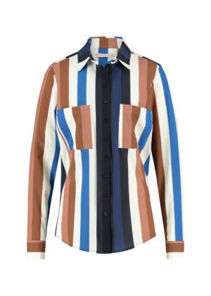Studio Anneloes 04992-6985 toppy stripe blouse darkblue cognac
