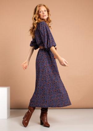 Studio Anneloes 04995-6585 cinti leopard dress cobald cognac 3