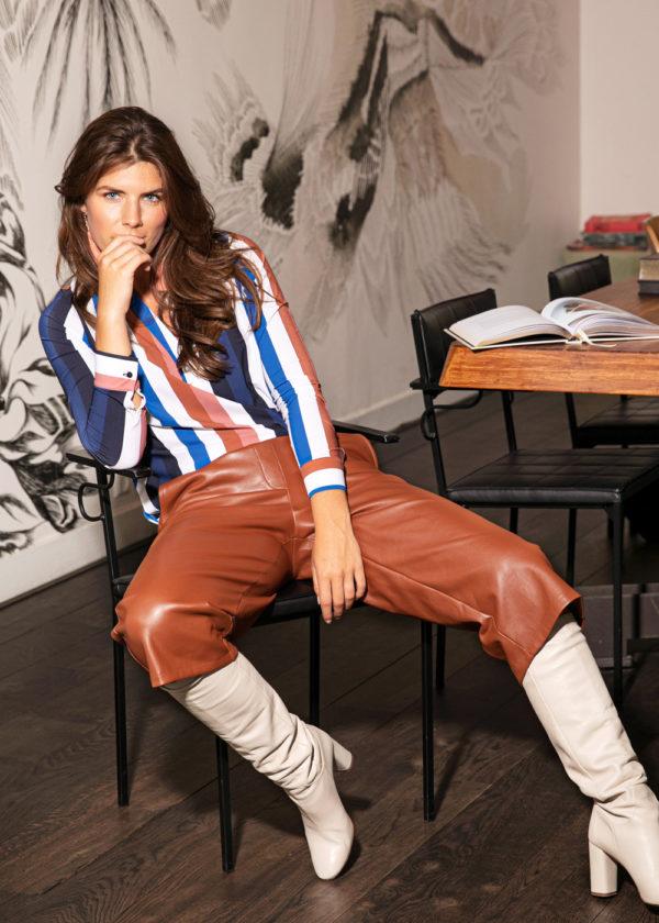 Studio Anneloes 05021-8500 florien faux leather culotte