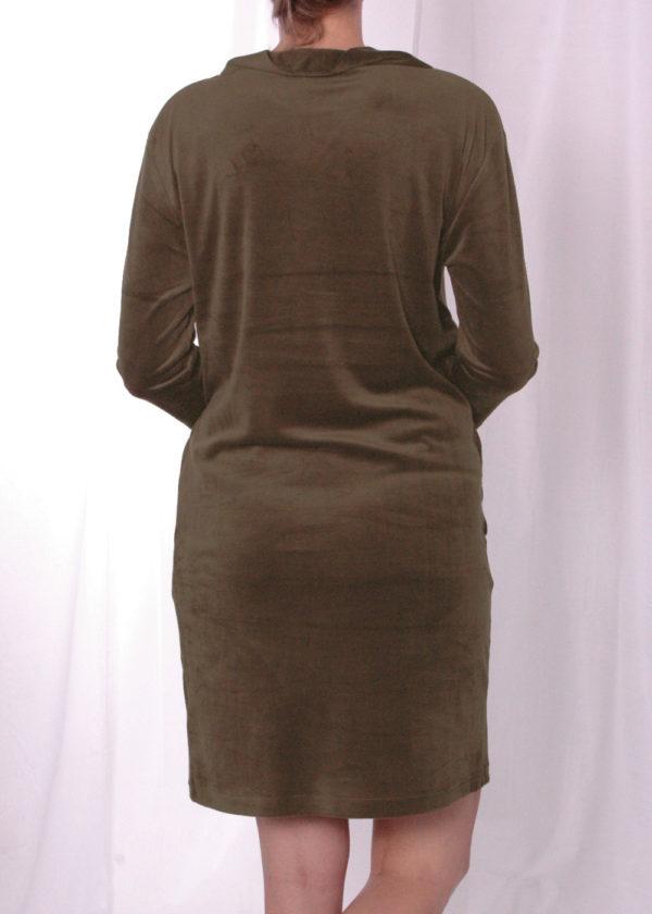 Emotions 241095 Dress velvet avocado achterkant