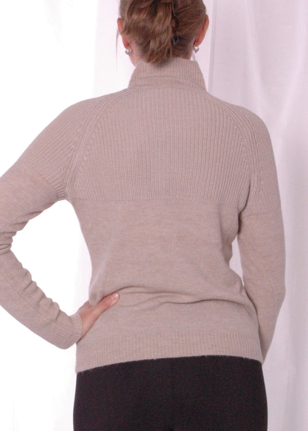 Emotions 241130 Mock neck with rib almond achterkant