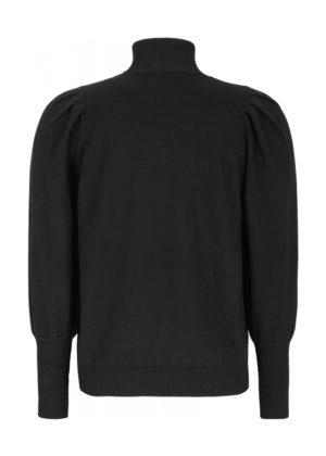 SR520-201 Leana roll neck knit black achterkant