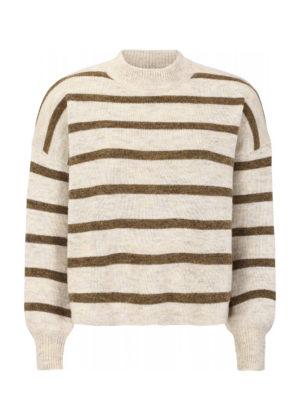 SR520-214 Patia T-neck knit whitecap gray