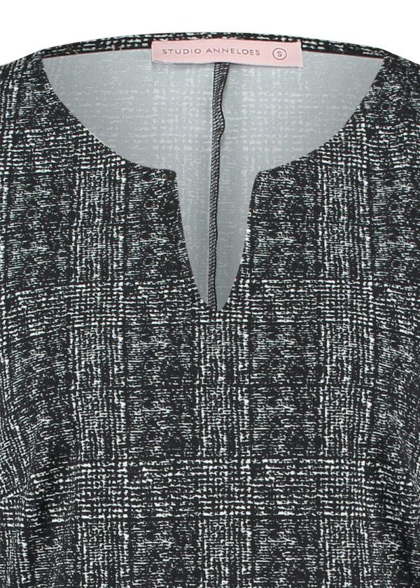 Studio Anneloes Shape check dress 05039 black off white details