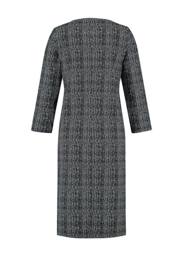 Studio Anneloes Shape check dress 05039 black off white packshot achterkant