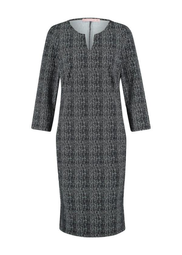 Studio Anneloes Shape check dress 05039 black off white packshot voorkant