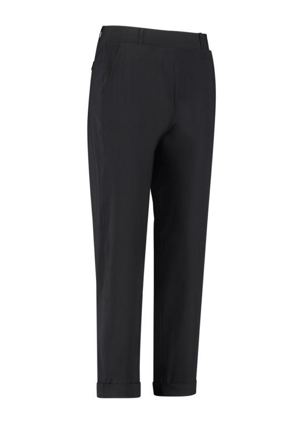 Studio Anneloes Black anne trousers broek 04963-9000 broek model voorkant