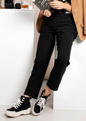 Studio Anneloes Black anne trousers broek 04963-9000 foto model broek