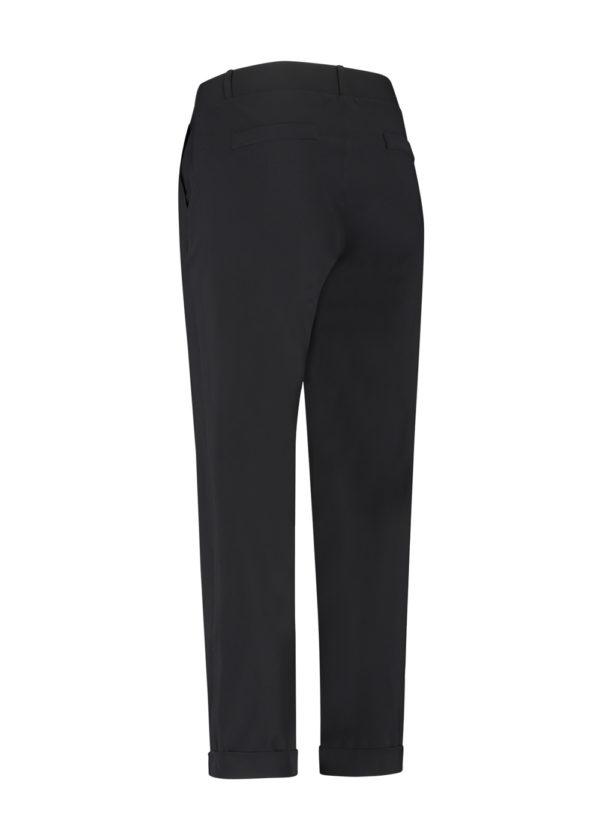 Studio Anneloes Black anne trousers broek 04963-9000 broek model achterkant