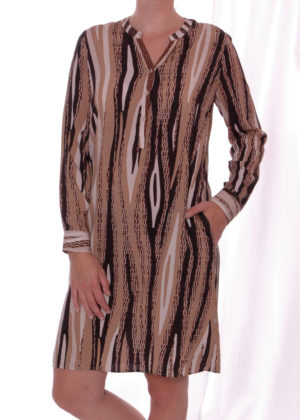 Milano Italy 03-6589-1004-5 Hazelnut print Dress