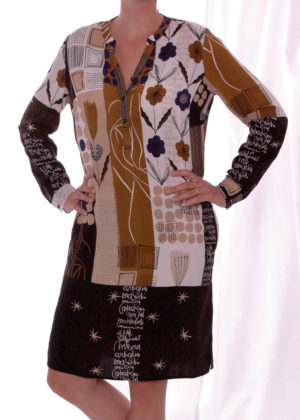 Milano Italy 03-6551-1004-5 Hazelnut print Dress