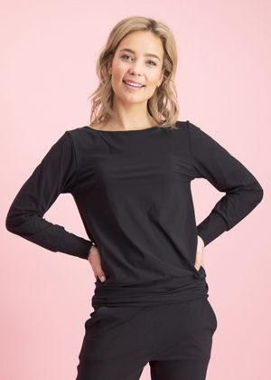 Studio Anneloes 92722-9000 tamdem shirt black zwart