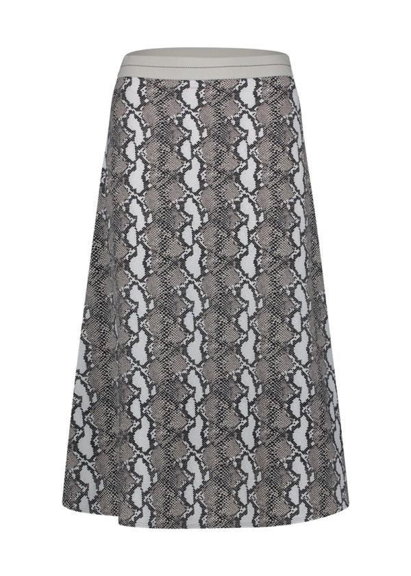 w20N803 skirt aop snake Penn & Ink N.Y