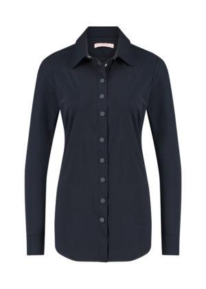 05012-6900 poppy press button blouse dark blue
