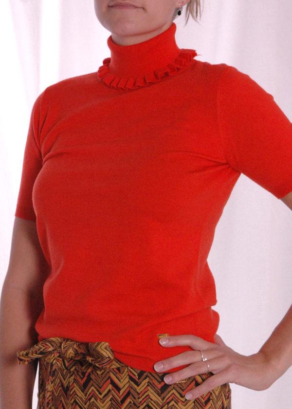 I-coni-K Evi Turtle neck truitje orange zijkant