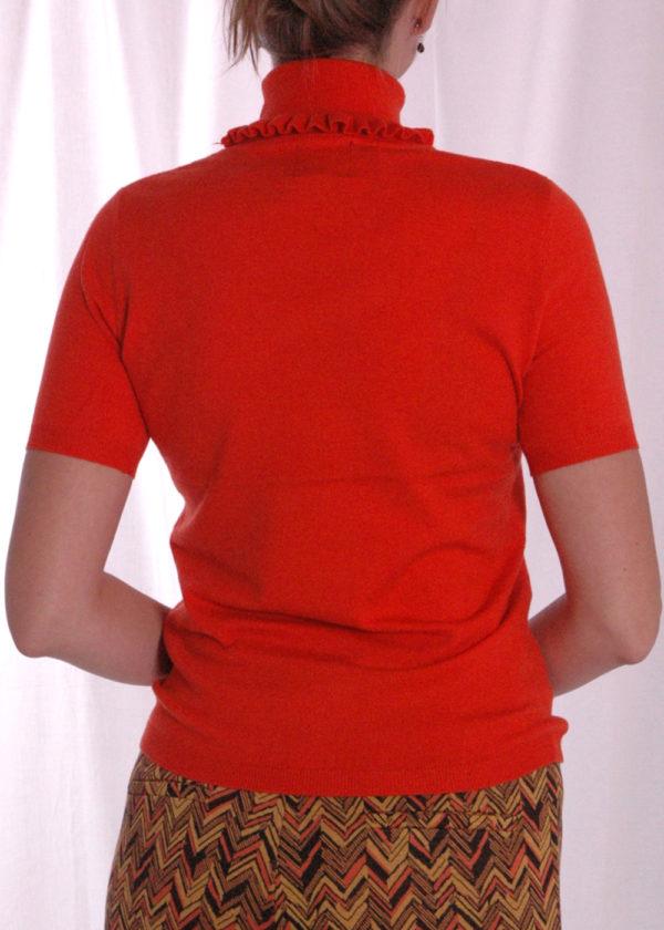 I-coni-K Evi Turtle neck truitje orange achterkant
