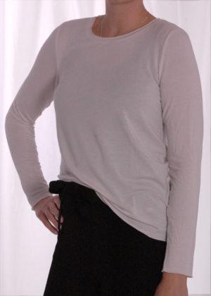 Smith & Soul t-shirt natur 0920-0929 zijkant