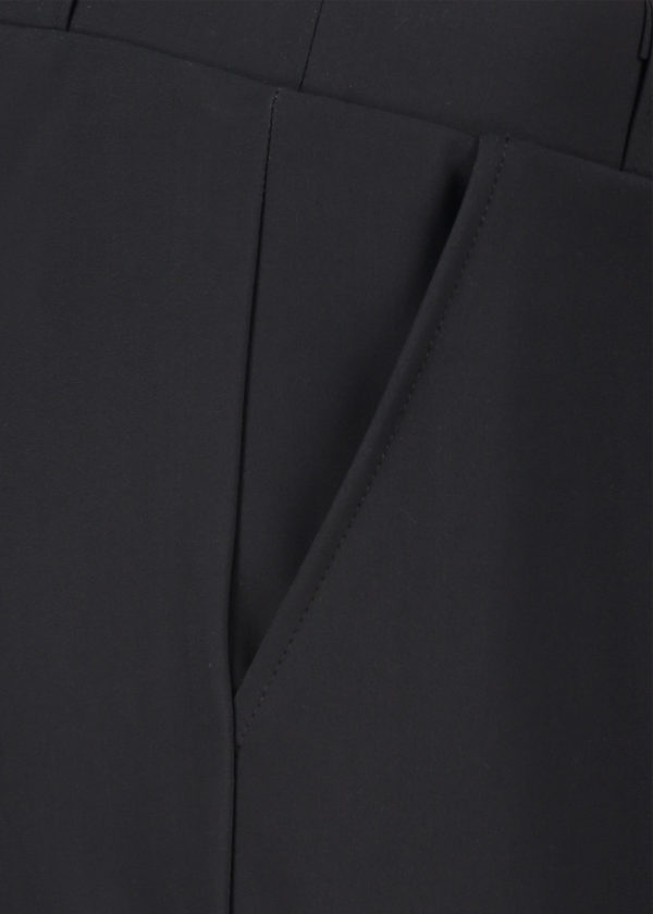 Studio Anneloes 02580-9000 Flo bonded trousers black packshot close-up