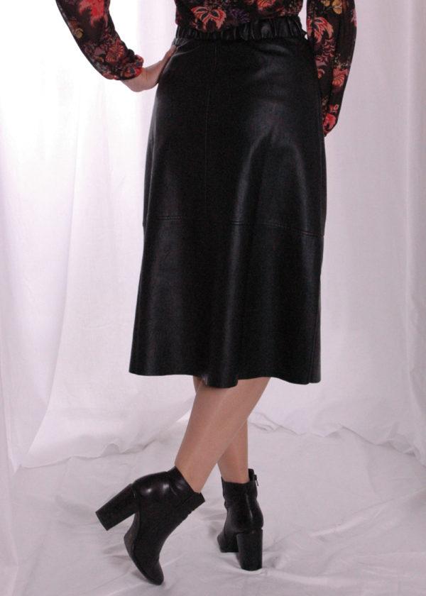 I-coni-K Naafi PU skirt black achterkant