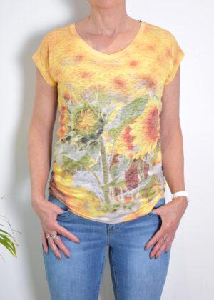 Dividere Cordoba sunflower T-shirt front