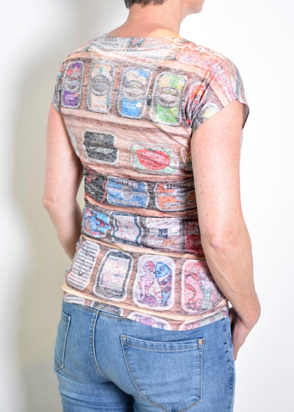 Dividere Sete sardines T-shirt back