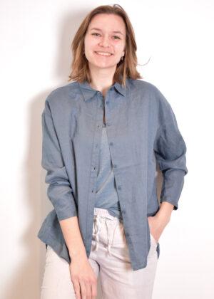 Emotions Oversize blouse 221078 Vintage blue front open