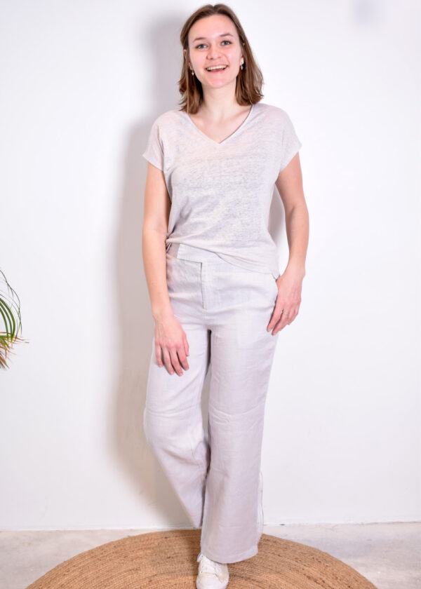 Emotions Palazo trouser 221072 light grey outfit