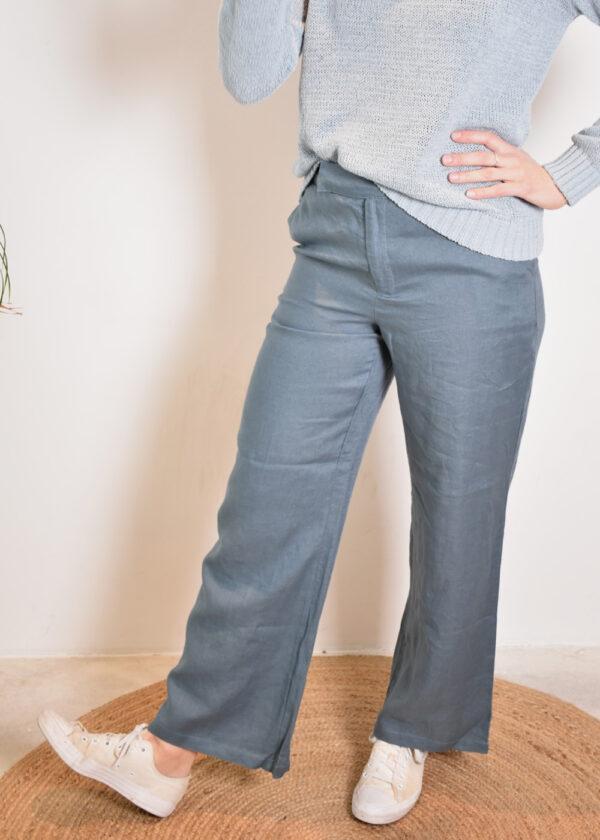 Emotions Palazo trouser 221072 vintage blue front