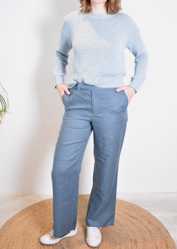 Emotions Palazo trouser 221072 vintage blue outfit