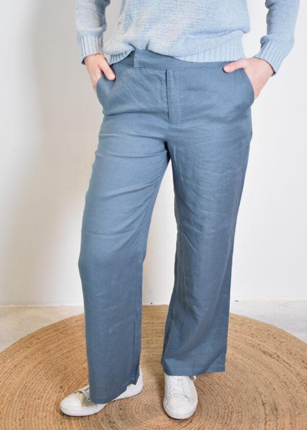 Emotions Palazo trouser 221072 vintage blue side
