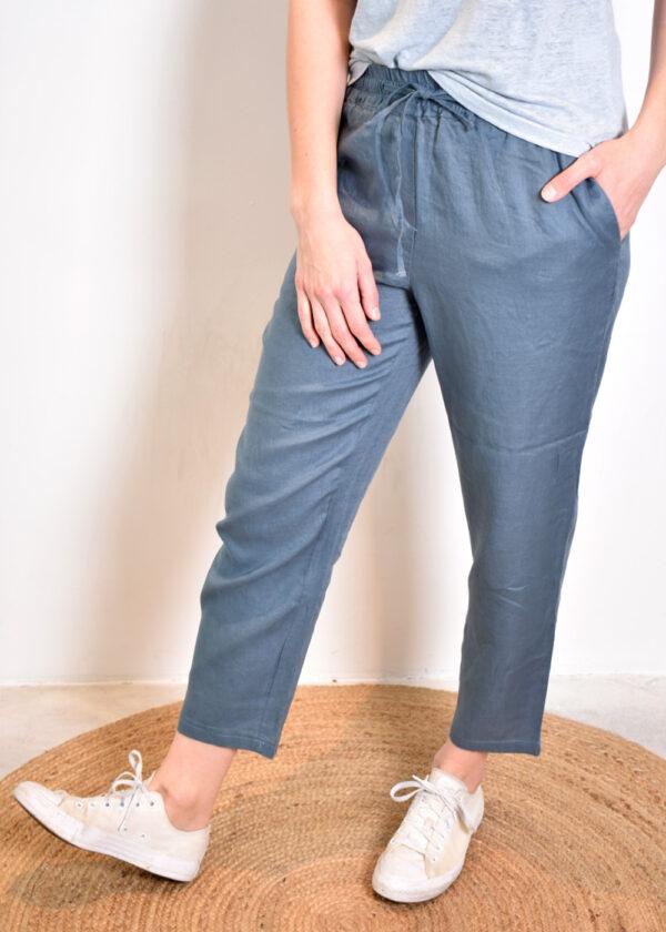 Emotions Sportive trouser 221073 vintage blue side