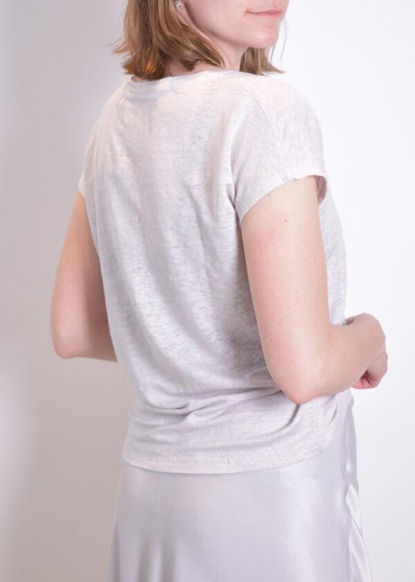 Emotions T-shirt v-neck 221035 Light grey back