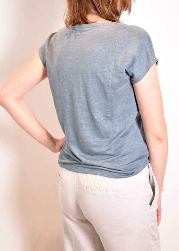 Emotions T-shirt v-neck 221035 Vintage blue back