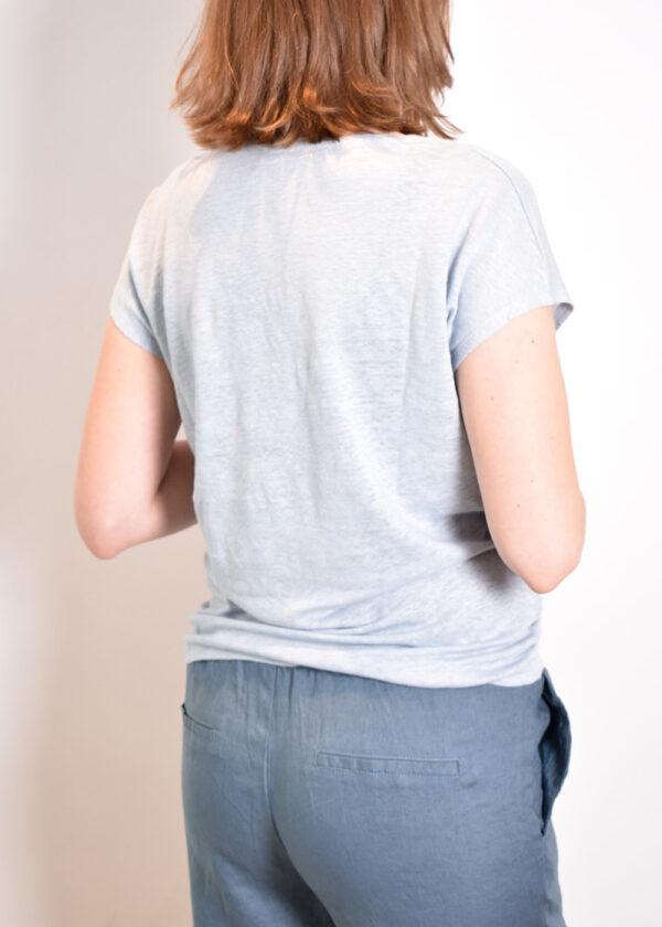 Emotions T-shirt v-neck 221035 skye blue back