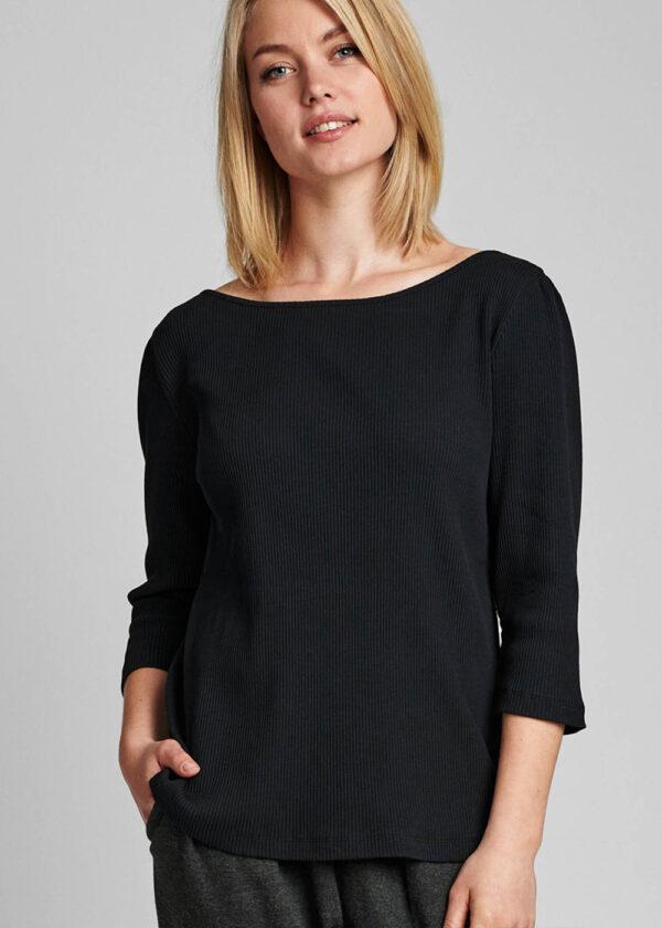 Nümph 700319 Nudari T-shirt caviar front