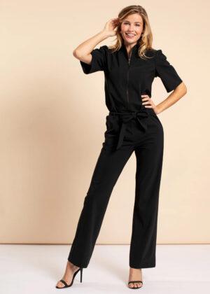 Studio Anneloes Eliza zipper jumpsuit 05499-9000 black geheel