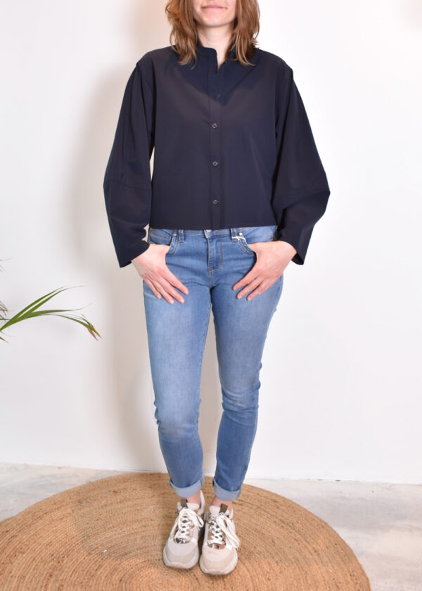 Penn & Ink Blouse N953 front closed outfit