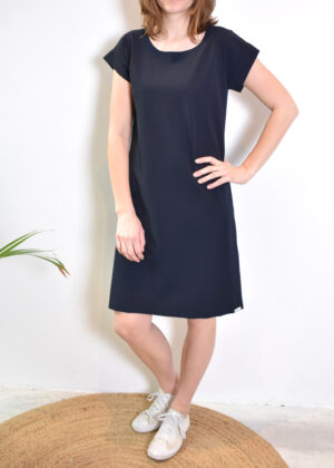 Penn & Ink Dress S21N962 navy front 2