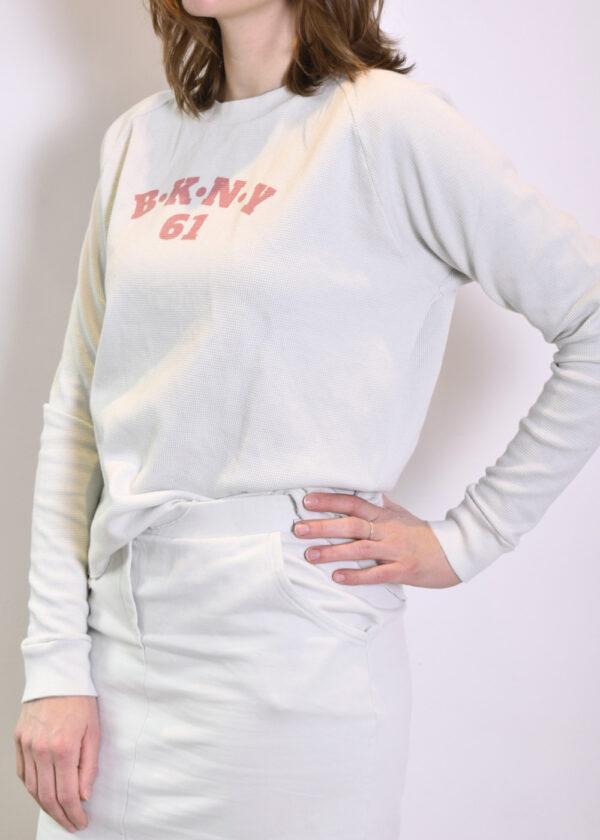 Penn & Ink N.Y. S21F895 sweater barely terracotta side