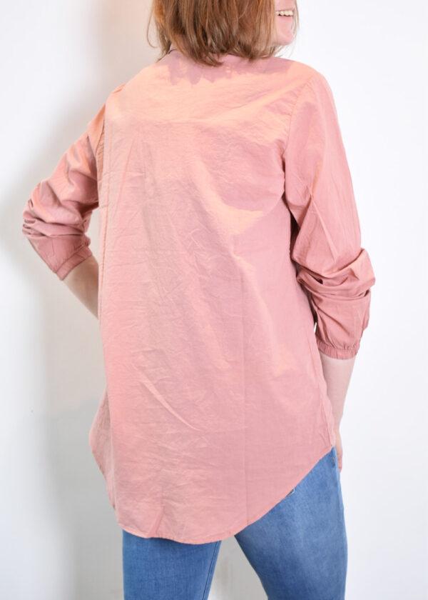 Penn & Ink N.Y. blouse S21F868 terracotta back