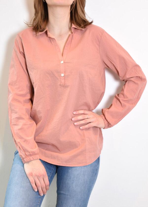 Penn & Ink N.Y. blouse S21F868 terracotta front