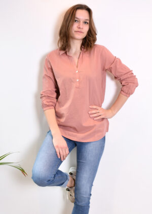 Penn & Ink N.Y. blouse S21F868 terracotta outfit
