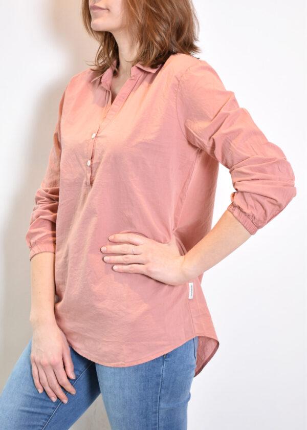 Penn & Ink N.Y. blouse S21F868 terracotta side