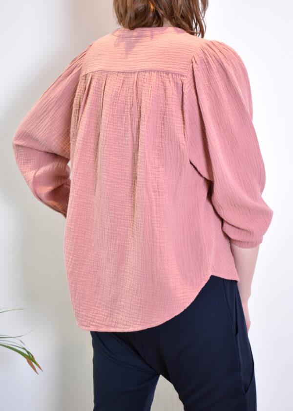 Penn & Ink N.Y. blouse S21T531 terracotta back