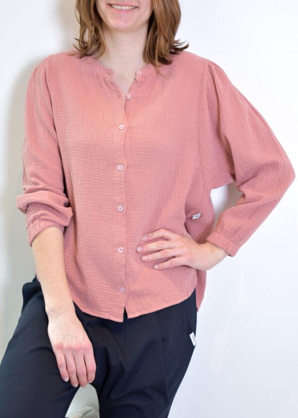 Penn & Ink N.Y. blouse S21T531 terracotta front