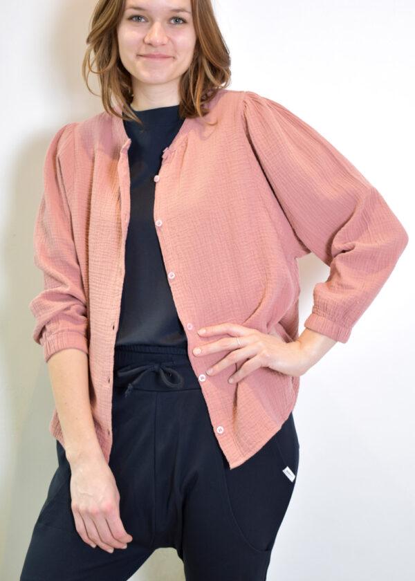 Penn & Ink N.Y. blouse S21T531 terracotta open