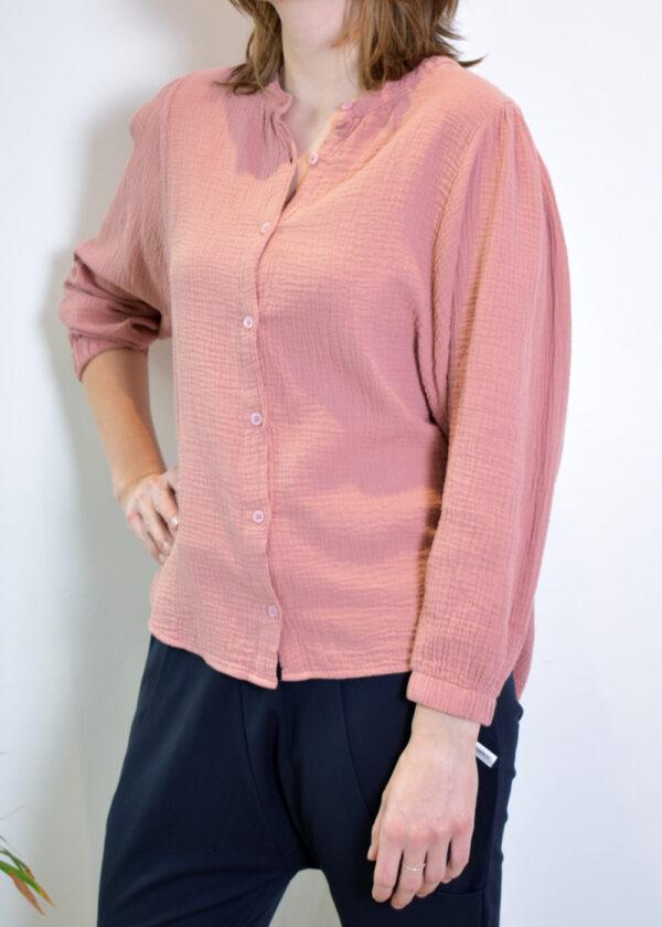 Penn & Ink N.Y. blouse S21T531 terracotta side