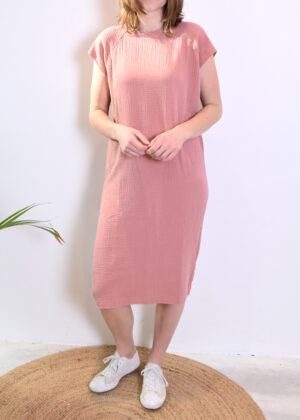 Penn & Ink N.Y. dress terracotta S21T530 front