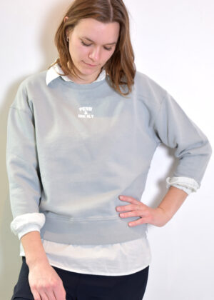 Penn & Ink SWEATER S21T563 pigeon front