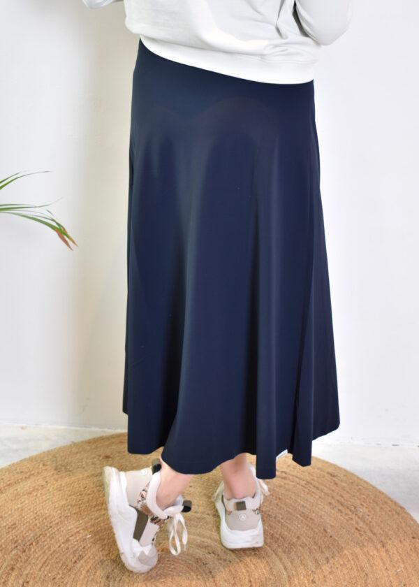Penn & Ink Skirt S21N96055 navy back